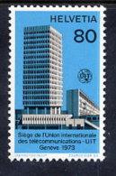SWITZERLAND: ITU 1973 New Headquarters Building MNH / **.  Michel 10 - Officials