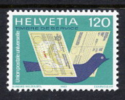 SWITZERLAND: UPU 1983 Dove And Letters MNH / **.  Michel 14 - Officials