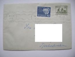 Sweden Letter 1962 Malmö - CSSR, Stamp 40 + 10 Öre, Back Side Label Cinderella Kastelo Gresillon Esperantista Kulturdomo - Suède