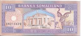 Billet De 10 Shillings Du Somaliland, Très Bon état - Somalie