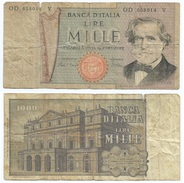 Italia - Italy 1.000 Lire 1980 Pick 101.g Ref 1149 - [ 2] 1946-… : Repubblica