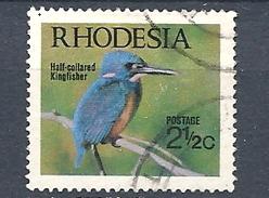RHODESIA 1971 Native Birds     USED   The Half-collared Kingfisher (Alcedo Semitorquata) - Rhodesia (1964-1980)