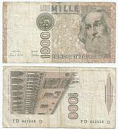 Italia - Italy 1.000 Lire 1982 Pick 109.a Ref 1156 - [ 2] 1946-… : República