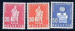 SWITZERLAND: International Education Bureau 1960 New Definitive Values, MNH / **.  Michel 46-48 - Officials
