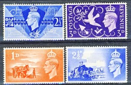 UK George VI 1946-48 Serie N. 235-236 E N. 239-240 MNH Cat. € 1 - 1902-1951 (Re)