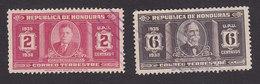 Honduras, Scott #329, 331, Used, Carias, Tomas Estrada Palma, Issued 1935 - Honduras
