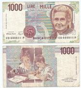 Italia - Italy 1.000 Lire 1990 Pick 114.b Ref 1163 - [ 2] 1946-… : República
