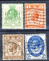 UK George V 1929 Serie N. 179-182 Usati Cat. € 10 - 1902-1951 (Könige)