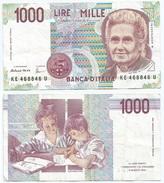 Italia - Italy 1.000 Lire 1990 Pick 114.c Ref 1170 - [ 2] 1946-… : República