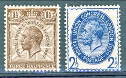 UK George V 1929 N. 179 Mezzo Penny Verde E N.182 P. 2 E Mezzo Oltremare MNH Cat. €  47,50 - 1902-1951 (Könige)