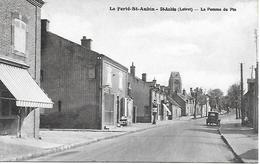 "LA FERTE SAINT AUBIN "" LA POMME DE PIN "" TACOT PETITE ANIMATION POMPE A ESSENCE ETOILE 1935 - La Ferte Saint Aubin"