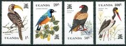 1982 Uganda Uccelli Birds Vogel Oiseaux Set MNH** Sie104 - Uganda (1962-...)