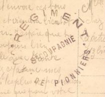 INGWILLER Bas RHIN, 400e REGIMENT DE PIONNIERS, 8e COMPAGNIE. - Marcophilie (Lettres)
