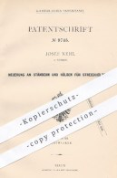 Original Patent - Josef Nehl , Barmen , 1879 , Ständer U. Hülsen Für Streichhölzer | Zündhölzer , Streichholz , Feuer !! - Historische Dokumente