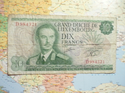 10 Francs Grand Duc Jean 20 Mars 1967 - Luxemburg