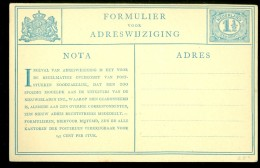 NEDERLAND * Adreswijziging * NVPH  52 Ongebruikt Voordruk (10.524e) - Postal Stationery