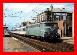 Thème Trains ( Scan Recto Et Verso ) Série Le Rail Usselois  - En Gare D'aulnoye 59    - N°368 - Gares - Avec Trains