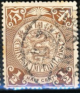 Stamp China Coil Dragon Chinese Imperial Post 1/2c1898-1900 Used #50 - Usati