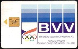 CZECH REPUBLIC - BVV - OFFICIAL SPONSOR OF THE CZECH OLYMPIC TEAM 1993-1996 - Jeux Olympiques