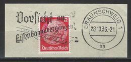 """Deutsches Reich 1936 Stempel """"Vorsicht An Eisenbahnübergängen"""" - Allemagne"""
