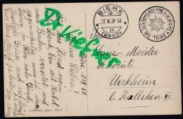 SCHWEIZ Feldpost: Militärstempel: Casernes De Bière, PostSt: Biere 12.V.1939, AK: Militärtross Durch Bière - 1939-45