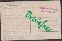 SCHWEIZ Feldpost Militärpostst: Scheinwerfer Pionnier Detachement II, Um 1916, AK: Grenzbesetzung 1914 - 1914-18