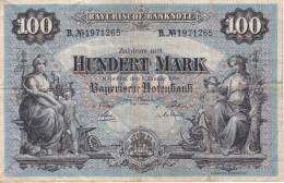 BILLETE DE ALEMANIA DE 100 MARK DEL AÑO 1900   (BANKNOTE) - [ 2] 1871-1918 : Imperio Alemán