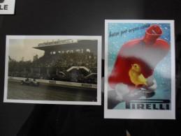 PIRELLI Lot De 2 Cartes Postales - Pubblicitari