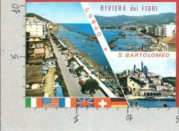 CARTOLINA VG ITALIA - CERVO E SAN BARTOLOMEO AL MARE (IM) - Vedutine - 10 X 15 - ANN. 1974 - Imperia