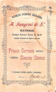 Stampa Pubblicitaria Della Agenzia Agraria Siciliana Di Catania Con Listino Prezzi Viaggiata Nel Agosto 1903. - Pubblicitari