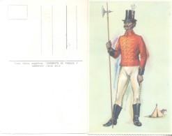 SARGENTO DE PARDOS Y MORENOS AÑO 1810- TRAJES TIPICOS ARGENTINOS CPA CIRCA 1940 RARE DOS DIVISE - Kostums