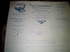 Facture Entete Elevage Avicole Canetons Poussins D Un Jour  La Chaumine A Maintenon Annee 1941 - Agriculture