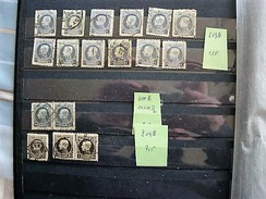 NRS 213A(X12)211B(X2)214B(X3)GESTEMPELD + 211-212-213-214*(X4) MET SCHARNIER - 1921-1925 Petit Montenez