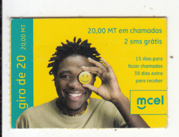 MOZAMBIQUE - Mcel Mini Prepaid Card 20 MT, Exp.date 18/12/10, Used - Mozambique