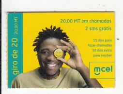 MOZAMBIQUE - Mcel Mini Prepaid Card 20 MT, Exp.date 18/12/10, Used