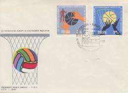 Enveloppe  FDC  1er  Jour   POLOGNE    Championnat  D' Europe  De   Basket Ball    WROCLAW   1963 - Pallacanestro