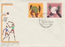 Enveloppe  FDC  1er  Jour   POLOGNE    Championnat  D´ Europe  De   Basket Ball    WROCLAW   1963 - Pallacanestro