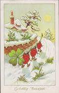 Gelukkig Nieuwjaar Coccinelle Lieveheersbeestje Ladybird Lady Bug Marienkäfer Mariquita Coccinella Trèfle CPA - Insects