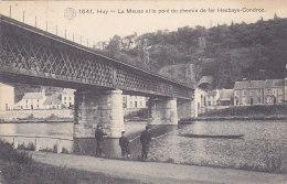 Huy - La Meuse Et Le Pont Du Chemin De Fer Hesbaye-Condroz (animation, Pêcheurs, Hermans, 1912) - Huy