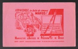 Buvard MAPED Manufacture D'articles De Précision Et De Dessin Formidable La Boite De Compas - Buvards, Protège-cahiers Illustrés