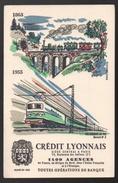 Buvard Crédit Lyonnais Buvard N°5 1863-1955 Les Chemins De Fer - Bank & Insurance