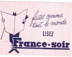 J F S/Buvard  Journal De France-Soir  (N= 1) - Buvards, Protège-cahiers Illustrés