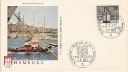 ALLEMAGNE DEUTSCHLAND BUND GERMANY HAFEN PORT HAVEN HAMBURG FDC ETOILE STERN STAR ARCHITCTURE - Kastelen