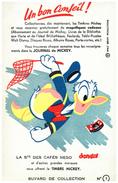 Buvard  Journal De Mickey  Les 4 Modeles Sont Diférents - Blotters