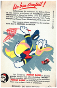 J J M/Buvard  Journal De Mickey (les Modeles Sont Diférents)   (N= 2) - Buvards, Protège-cahiers Illustrés