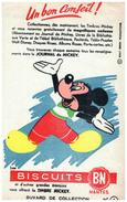 J J M/Buvard  Journal De Mickey (les Modeles Sont Diférents)   (N= 1) - Papel Secante