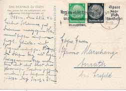 ESSEN - 1942 , Hindenburg-Zusammendruck Mit Werbung - Deutschland