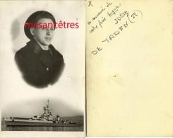 Photo D'Eugène JOSSE De Taden (22) Et D'un Cuirassier-bateau De Guerre-marin - Krieg, Militär