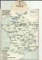 Carte Routière De L'(Organisation DUNLOP En France Metropolitaine) De PARIS Avec Toute Les Villes Presente Sur La Carte- - Roadmaps