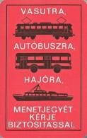 VECHILE RAIL RAILWAY RAILROAD LOCOMOTIVE BUS AUTOBUS SHIP BOAT TICKET INSURANCE CALENDAR Allami Biztosito 1967 * Hungary - Calendriers